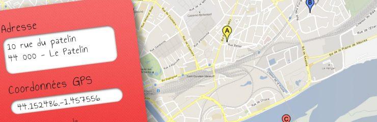 Une carte google map avec une metabox WordPress