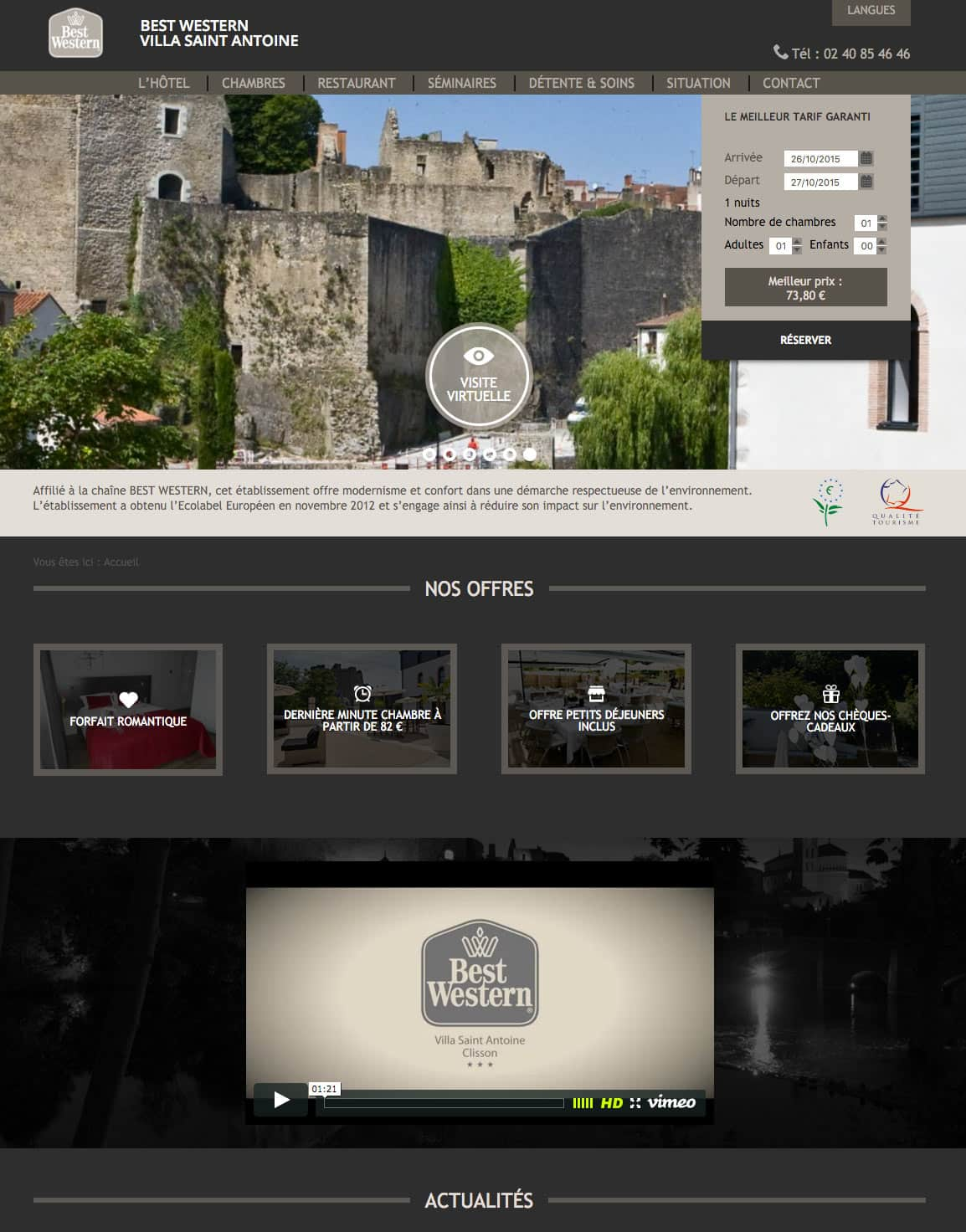 site hotel WordPress